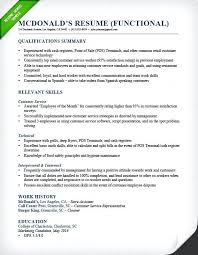 Relevant Skills Resume Shift Manager Functional Resume Other
