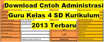 Aplikasi administrasi guru kelas sd. Download Contoh Administrasi Guru Kelas 4 Sd Kurikulum 2013 Terbaru Administrasi Guru Kurikulum 2013