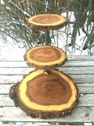log wedding cake stand wooden 3 tiered wood rustic cupcake large elm stands australia
