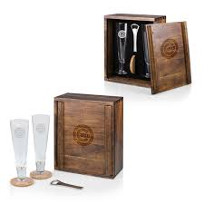 chicago cubs pilsner beer gift set for 2 brown
