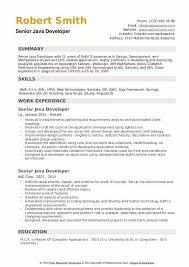 Senior Java Developer Resume Samples Qwikresume