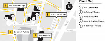 Parking Map Texas Performing Arts The University Of