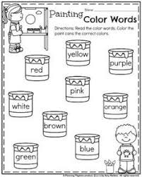 color worksheets for kids. Fine For Back To School Kindergarten Worksheets And Color For Kids E