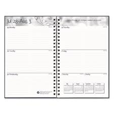 Academic Weekly Calendar Recycled Academic Weekly Monthly Appointment Book Planner