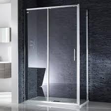 aquaglass sleek 6mm sliding shower door image 1