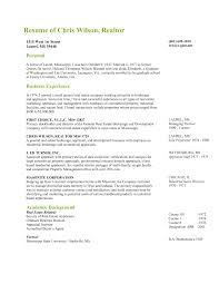 Realtor Resume Sample The Real Estate Agent Resume Examples Tips Placester Brokers And 36