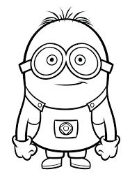 Minion Coloring Pages Bob At Getcoloringscom Free Printable