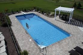 simple inground pool designs. swimming pool backyard design with inground rectangular shaped and simple of stone floor laminate designs