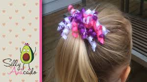 How to Make a Curly Ribbon Hair Bow! Easy DIY Girl Hair Bow Craft Tutorial!  Add Hello Kitty ribbon! - YouTube