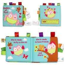 3d cloth book toy soft plush non toxic baby cloth activity early education toys ultra