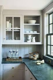 modern farmhouse kitchen design. Modern Farmhouse Kitchen Renovation Light Gray Cabinets With Open Shelf Glass Front Design