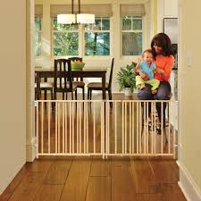 North State Natural Wood Extra Wide Swing Baby Gate, 60