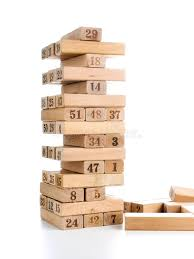 Wooden Brick Game Blocks Of Game Jenga On White Background Vertical Tower Whole And 32