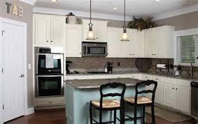 black countertops white cabinets blue walls deductourcom