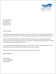 Catering Marketing Letter Templates