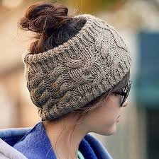 Ponytail Hat Knitting Pattern Magnificent Womens Knitting Wool Sport Beanie Hat Top Hollow Off For Ponytail