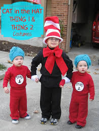 these diy cat in the hat and thing 1 and thing 2 costumes are great for