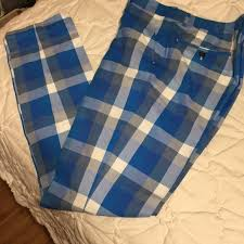 Moods Of Norway Blue Plaid Checkered Suit Pants