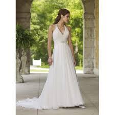 a line halter v neck beaded pleated chiffon satin wedding dress