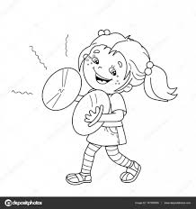 Small Picture Coloring Page Outline Of cartoon girl playing the cymbals Musical