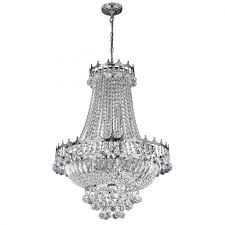 versailles chrome 9 light chandelier trimmed with crystal