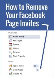 how to remove facebook page invites