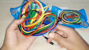 DANIU P1036 <b>10 Pcs 1M 4mm</b> Banana to Banana Plug Test Cable ...
