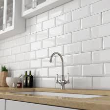 Victoria Metro Wall Tiles - Gloss White - 20 x 10cm Large Image