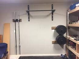 diy garage gym pull up bar