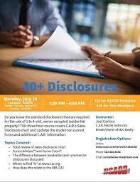 Car Disclosure Chart 40 Plus Disclosures At Rancho Southeast Association Of
