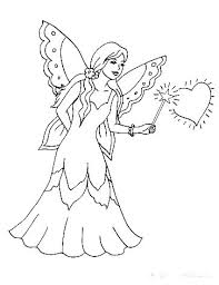 Fairy Coloring Page Free Flower Fairy Coloring Page By Molly Gothic