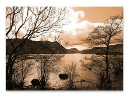 ullswater 3 2008 sepia on sepia canvas wall art with lake district sepia canvas print ullswater canvas prints