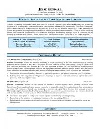 Forensic Accountant Resume Resume Cover Letter Example