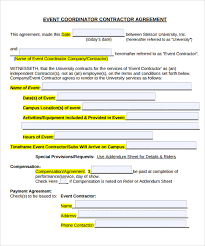 Free Event Planner Templates Event Planner Contract Template Business