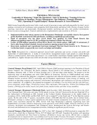 Resume Templates For Hospitality Management Best Of Hotel General