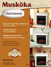 muskoka mef2822cwg manuals elegant electric fireplace indoor fireplace users guides page 112