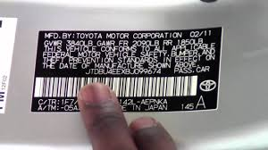 2011 | Toyota | Corolla | Tire And VIN Stickers | How To by Toyota ...