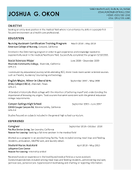 Objective For Cna Resume Sample Cv Layout Curriculum Vitae Microsoft