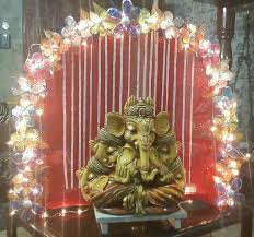 homemade decoration ideas for ganpati home ganpati decoration