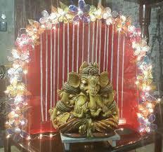 decoration for ganpati at home home decor