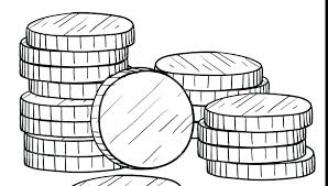 Coin Coloring Pages Money Coloring Page Coloring Pages Money
