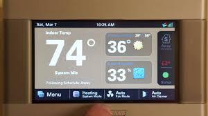 trane 824 thermostat. programming your trane xl824 smart thermostat 824