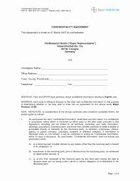 Confidentiality Agreement Template Generic Non Disclosure Agreement Template Luxury Fresh 9