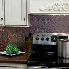 lotus pvc decorative tile backsplash in brushed nickel