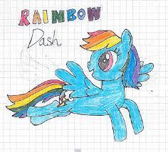 1761266 Artist Nightshadowmlp Graph Paper Happy Rainbow Dash