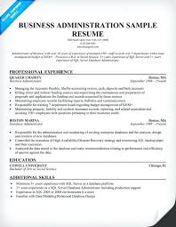 Sample Resume Business How To Write A Business Administration Resume
