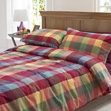 colour pop cosy brushed cotton duvet set