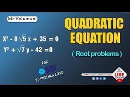 quadratic equation root problems