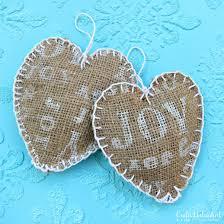 Burlap Crafts Homemade Ornaments Joyful Painted Burlap Tutorial