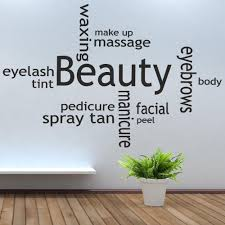 Beauty Parlor Quotes Best Of Beauty Collage Salon Tan Mit Massage Oils Make Up Wall Stickers Room